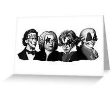 KISS Bach Beethoven Chopin Mozart rock style Greeting Card