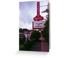 Austin Motel Greeting Card