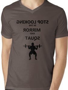 MIrror Squat Mens V-Neck T-Shirt
