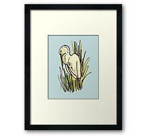 Egret on Blue Framed Print