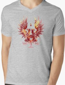 Dragon Age - Grey Warden Heraldry (Red/Gold) Mens V-Neck T-Shirt