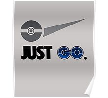 Just Go, Going To The Gym Catching Monsters T-Shirt Poster