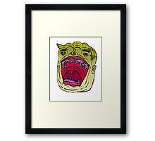 Excited Young Man Framed Print