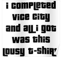 Grand Theft Auto Vice City 100% Reward Poster