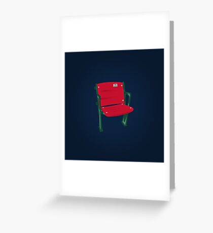 The Lone Red Seat - Red Sox - Fenway Park Greeting Card