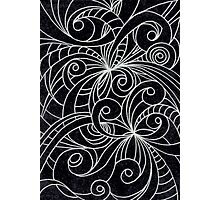 Floral Doodle Drawing Photographic Print