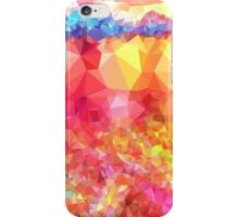 Colorful,polygonal,orange,red,blue,yellow,green,green,abstract art iPhone Case/Skin