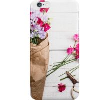 Still Life Sweet Peas with Scissors iPhone Case/Skin