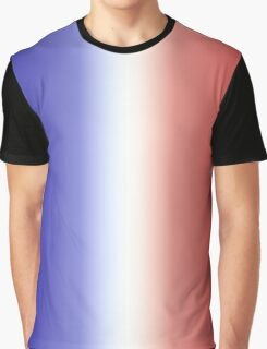 French Flag Gradient Graphic T-Shirt