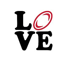 Rugby ball love Photographic Print