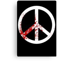 Peace and Blood Canvas Print