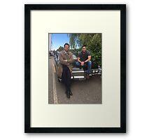 Jensen and Misha Framed Print