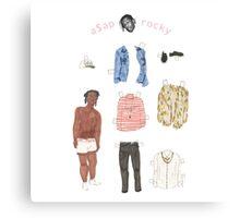 A$AP Rocky Paper Doll Canvas Print