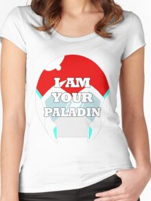 """I AM YOUR PALADIN"" Keith from Voltron Women's Fitted Scoop T-Shirt"