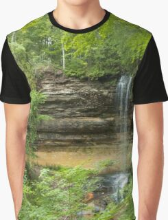 Waterfall in the Woods Graphic T-Shirt