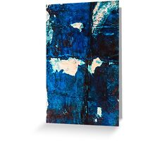 RIPPED BLUES Greeting Card