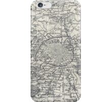 Vintage Map of Paris France Vicinity (1841) iPhone Case/Skin
