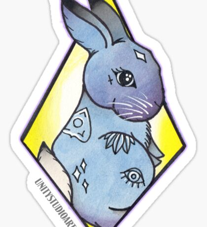 Easter Bunny takes Halloween Sticker