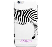 Zebra Zoom 1A iPhone Case/Skin