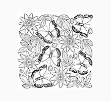 Migratory Glider and passion fruit flowers Unisex T-Shirt