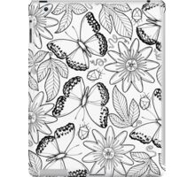 Migratory Glider and passion fruit flowers iPad Case/Skin