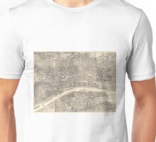 Vintage Map of Frankfurt Germany (1864) Unisex T-Shirt