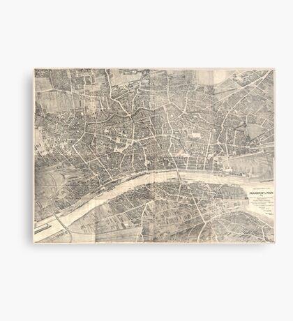 Vintage Map of Frankfurt Germany (1864) Metal Print
