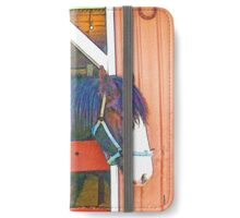 RainbowConfetti Clydesdale Mare and Colt iPhone Wallet/Case/Skin