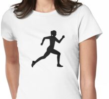 Running woman girl Womens Fitted T-Shirt