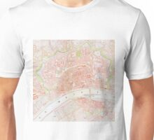 Vintage Map of Frankfurt Germany (1862) Unisex T-Shirt