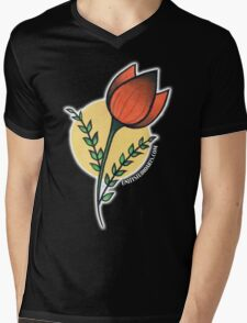 Red Tulips Mens V-Neck T-Shirt