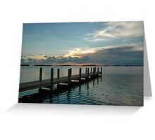 Bayside pier sunset Greeting Card