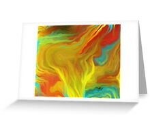 AGATE ABSTRACT OIL PAINTING Greeting Card
