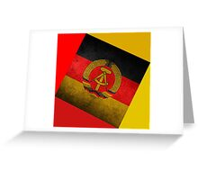 EAST GERMANY Greeting Card
