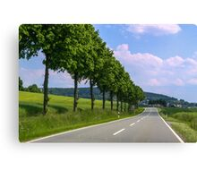 German Highway Canvas Print