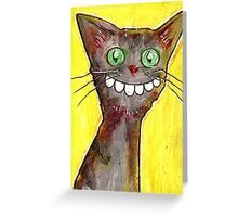 Derp Cat on Yellow Greeting Card