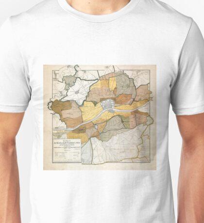 Vintage Map of Frankfurt Germany (1905) Unisex T-Shirt