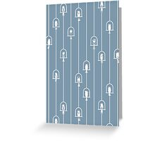 Chime in Blue Harmony Greeting Card