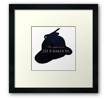 """""""Sherlocked"""" 221 B Baker Street Framed Print"""