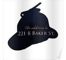 """""""Sherlocked"""" 221 B Baker Street Poster"""