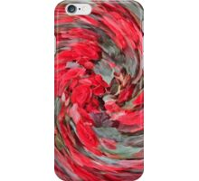 Red Begonia Whirl iPhone Case/Skin