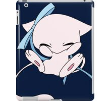 mew with a bow  iPad Case/Skin