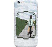 Cyclist From Behind iPhone Case/Skin