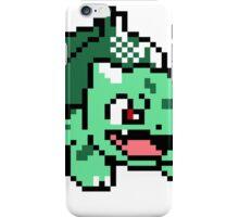 Bulbasaur Pokemon 8 Bit Sprite 3squire iPhone Case/Skin