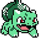Bulbasaur Pokemon 8 Bit Sprite 3squire by CrissChords
