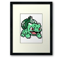 Bulbasaur Pokemon 8 Bit Sprite 3squire Framed Print