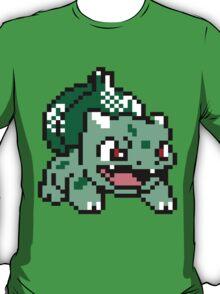 Bulbasaur Pokemon 8 Bit Sprite 3squire T-Shirt