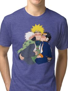 naruto cute cheek kisses Tri-blend T-Shirt