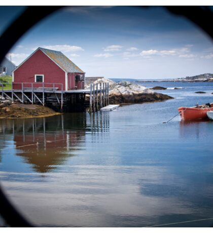 Peggy's Cove through a lobster pot Sticker