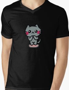 Kawaii Kätzchen Mens V-Neck T-Shirt